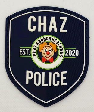 Chaz Police Department Patch -Glow in the Dark 3.5